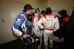 Drivers get ready for a practice session