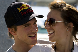 Scott Speed and wife Amanda Mathis joke around