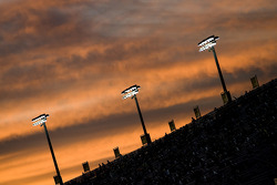 The sun sets over Homestead-Miami Speedway