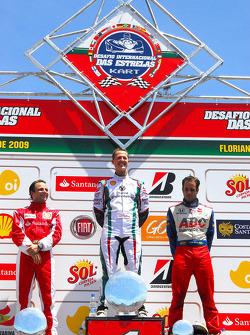 Final Podyum: overall Kazanan Michael Schumacher, 2. Felipe Massa, 3. Vitor Meira