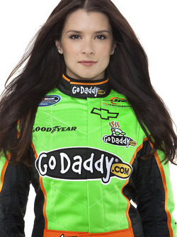 Go Daddy girl Danica Patrick in her new Nationwide firesuit