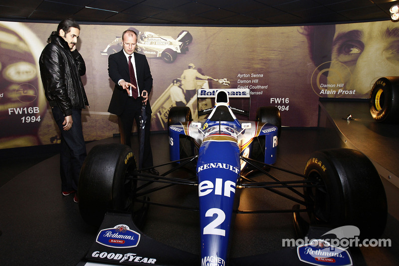 His Highness Sheikh Khalid bin Hamad Al-Thani of Qatar visits the Williams F1 Headquarters near Oxford, UK, to test the company's Formula One simulator, technology that is being further developed at the Qatar Science & Technology Park