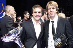 Sébastien Loeb with Sebastian Vettel, Red Bull Racing