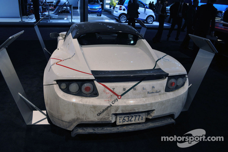 Tesla Roadster van Los Angeles naar Detroit