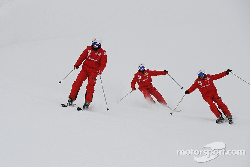 Fernando Alonso, Felipe Massa et Giancarlo Fisichella