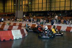 Start of celebrity karting challenge