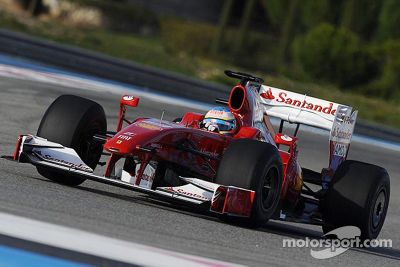 Fernando Alonso Ferrari test