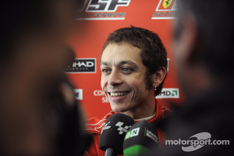 Valentino Rossi tests Ferrari F2008 at Barcelona in 2010