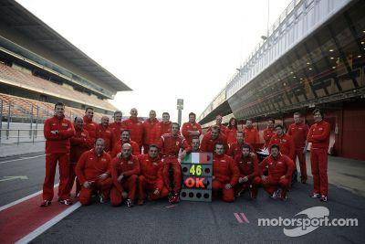 Valentino Rossi Ferrari testi