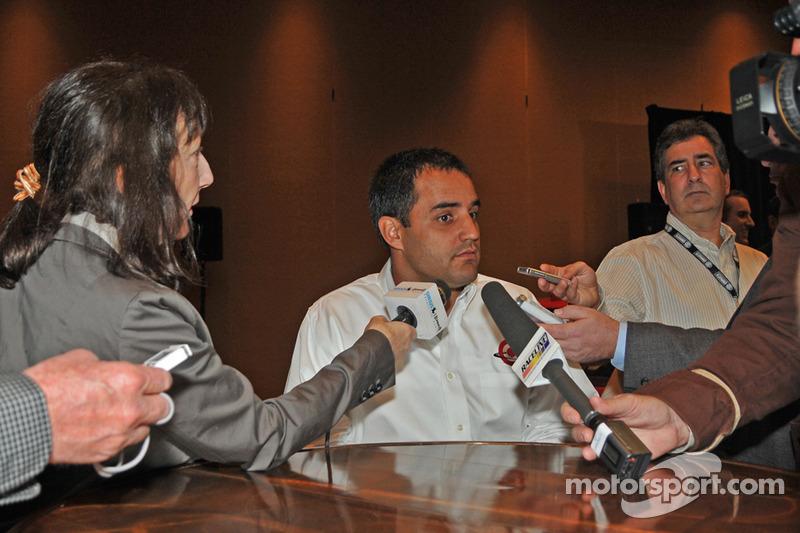 Juan Pablo Montoya rencontre les médias
