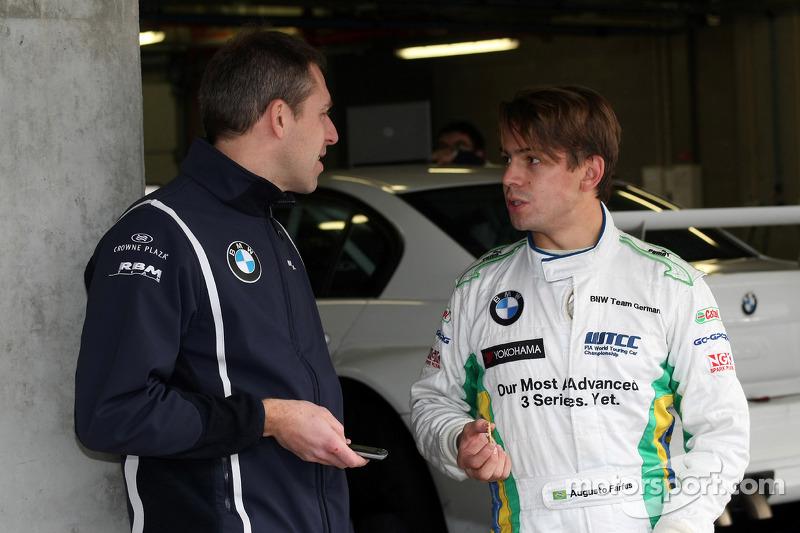 Bart Mampaey, Manager du BMW UK Team,et Augusto Farfus, BMW 320si, BMW Team UK