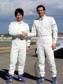 Kamui Kobayashi, BMW Sauber F1 Team, Pedro de la Rosa, BMW Sauber F1 Team