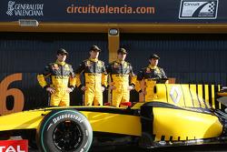 Jerome D'Ambrosio, Test Driver, Renault F1 Team, Robert Kubica, Renault F1 Team, Vitaly Petrov, Renault F1 Team, Ho-Pin Tung, Test Driver, Renault F1 Team