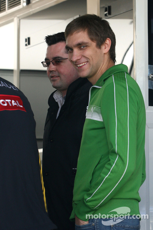 Jerome D'Ambrosio, Test Driver, Renault F1 Team et Ho-Pin Tung, Test Driver, Renault F1 Team