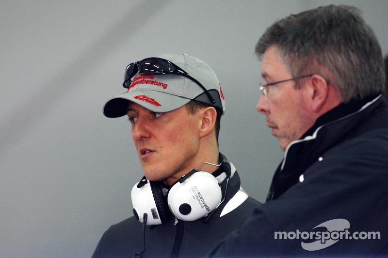 Міхаель Шумахер і Росс Браун, Mercedes GP