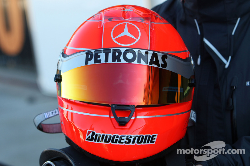 De helm van Michael Schumacher, Mercedes GP