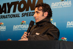 Dario Franchitti during an evening press conference
