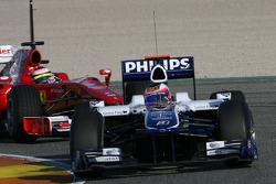 Rubens Barrichello, Williams F1 Team and Felipe Massa, Scuderia Ferrari