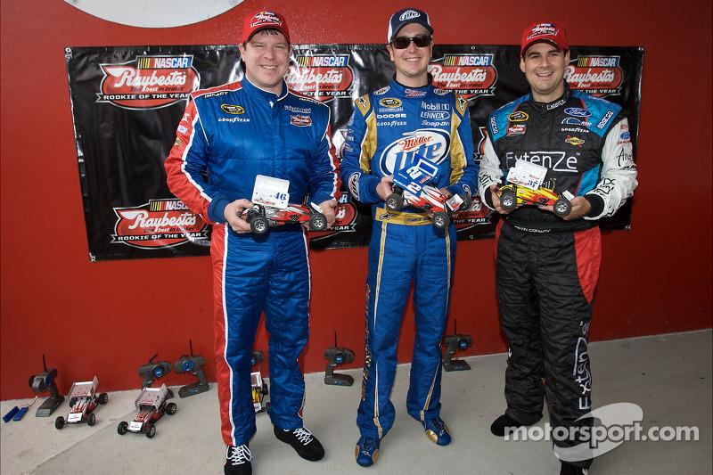 Raybestos Rookie of the Year race met telegeleide wagentjes: Terry Cook, Kurt Busch en Kevin Conway