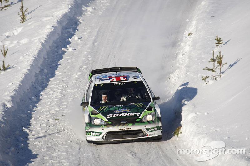 Matthew Wilson en Scott Martin, Ford Focus RS WRC 08, Stobart VK M-Sport Ford Rally Team