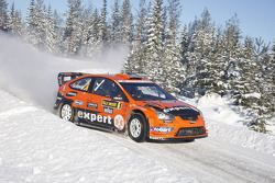 Auto Ford Focus RS WRC 08 de Henning Solberg e Ilka Minor, Stobart VK M-Sport Ford Rally Team