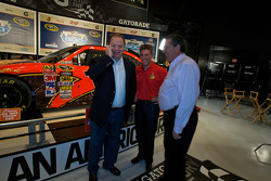 Champion's breakfast: 2010 Daytona 500 winner Jamie McMurray with team owners Chip Ganassi and Felix Sabates