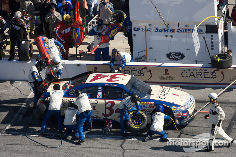 Pitstop John Andretti, Front Row Motorsports with Yates Racing Ford