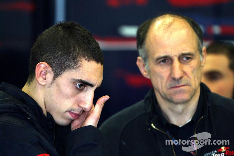 Sébastien Buemi, Scuderia Toro Rosso et Franz Tost, directeur général de Toro Rosso