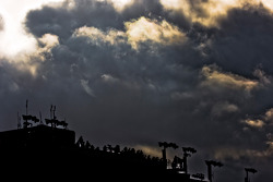 The storm clouds roll in towards the end of the Auto Club 500