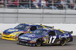 Matt Kenseth, Roush Fenway Racing Ford and Martin Truex Jr., Michael Waltrip Racing Toyota