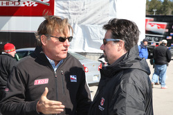 Indy Racing League commercial division president Terry Angstadt and Michael Andretti