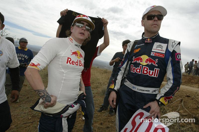 Кімі Райкконен і Кай Ліндстром, Citroen C4 WRC, Citroën Junior Team після аварії в ралі