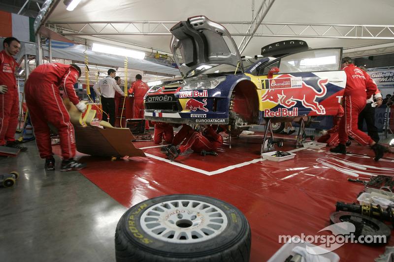 Citroën Total World Rally Team servicegebied