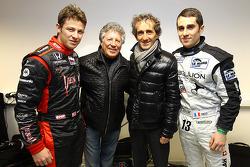 Marco Andretti, Mario Andretti, Alain Prost and Nicolas Prost