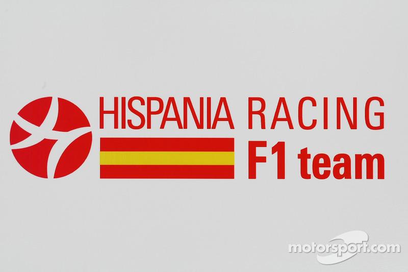 hispania racing f1 team logo at bahrain gp