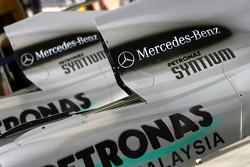 Mercedes GP engine cover detail