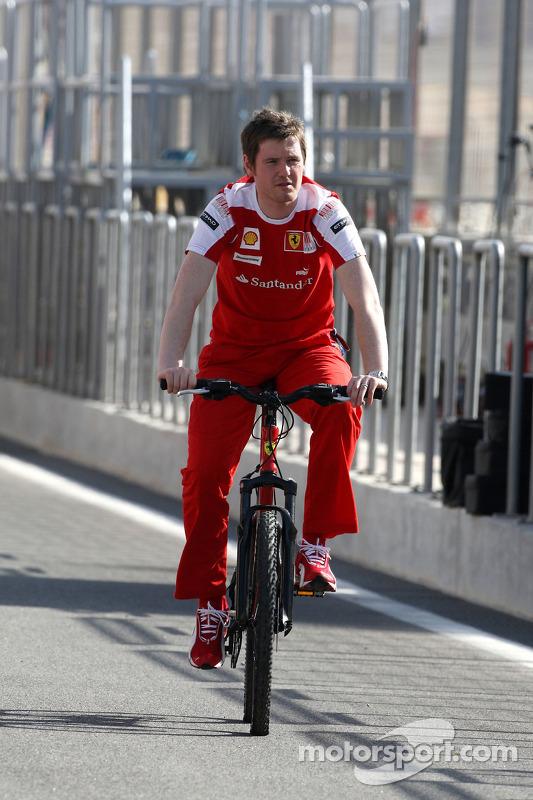 Rob Smedley, Scuderia Ferrari, Track Engineer Felipe Massa