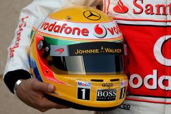 The helmet of Lewis Hamilton, McLaren Mercedes