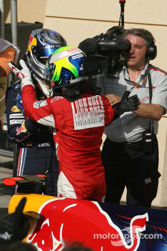 Polepositie Sebastian Vettel, Red Bull Racing, Felipe Massa, Scuderia Ferrari