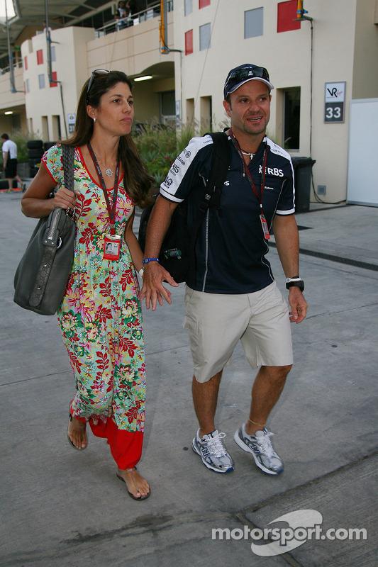 Silvana Barrichello, vrouw van Rubens Barrichello met Rubens Barrichello, Williams F1 Team