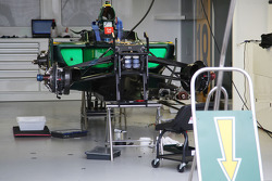 The garage of Jarno Trulli, Lotus F1 Team