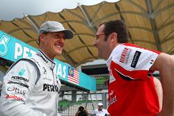 Michael Schumacher, Mercedes GP and Stefano Domenicali Ferrari General Director