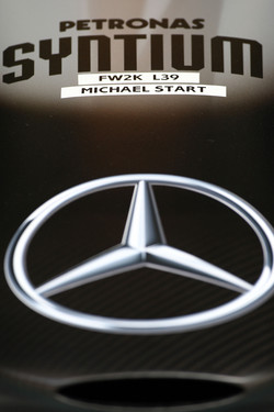 The nose cone of Michael Schumacher, Mercedes GP