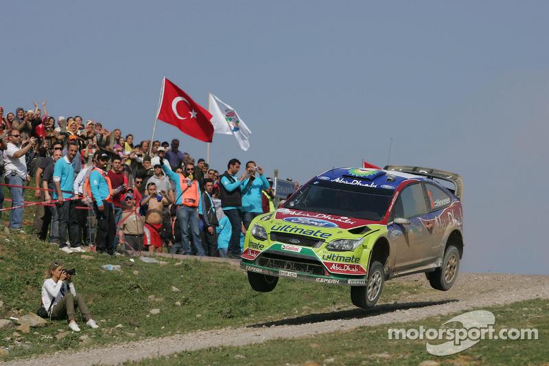 Mikko Hirvonen et Jarmo Lehtinen, Ford Focus RS WRC08, BP Ford Abu Dhabi World Rally Team