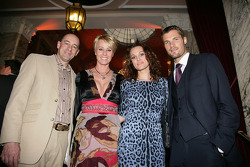 Sonja Zietlow avec mari et Christina Surer avec Martin Tomczyk, Audi Sport Team Abt Audi A4 DTM