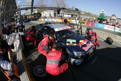 Essais d'arrêt aux stands Mattias Ekström, Audi Sport Team Abt Audi A4 DTM