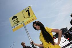 Grid girl of Paul di Resta, Team HWA AMG Mercedes C-Klasse