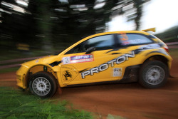 Alister McRae with co-driver Bill Hayes of Proton R3 Malaysia