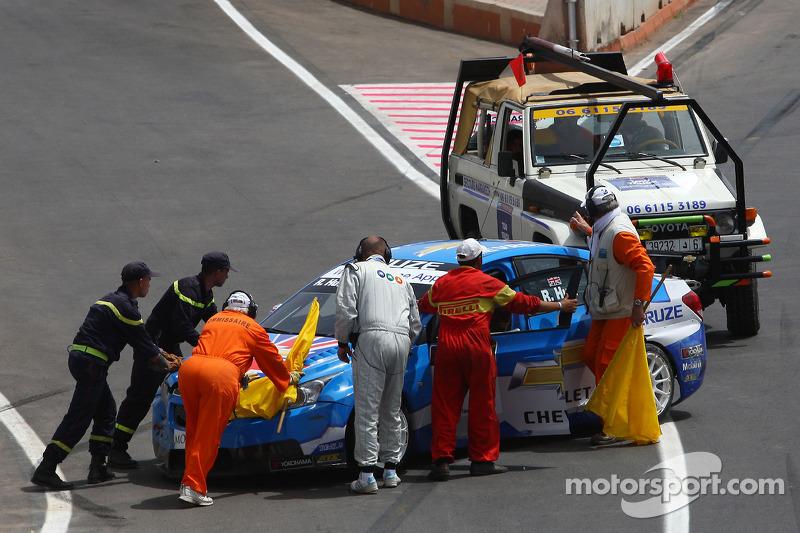 Crashte auto van Robert Huff, Chevrolet, Chevrolet Cruze LT
