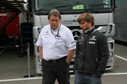 Norbert Haug, Mercedes, Motorsport chief Nick Heidfeld, Test Driver, Mercedes GP